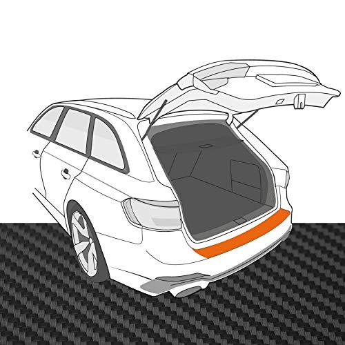 Ladekantenschutz Folie | Ladekantenschutzfolie › passgenau für: VW Golf Cabrio 6 1K BJ 2011-2016 ✓ Schwarz-Matt/Carbon-Optik ✓ Stärke 160 µm (0,16mm)