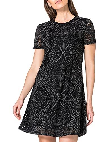 Desigual Damen Vest_nilo Casual Dress, Schwarz, XL EU