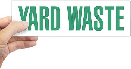 "CafePress Yard Waste Sticker 10""x3"" Rectangle Bumper Sticker Car Decal"
