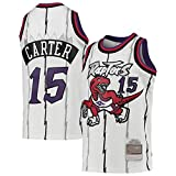 Maillots de baloncesto Carter de los hombres Jerseys, Cool Transpirable Tela Sin Mangas #15 Chaleco Blanco