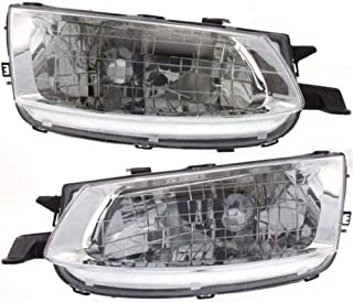 Headlight Assembly Compatible with 1999-2001 Toyota Solara Halogen Passenger and Driver Side