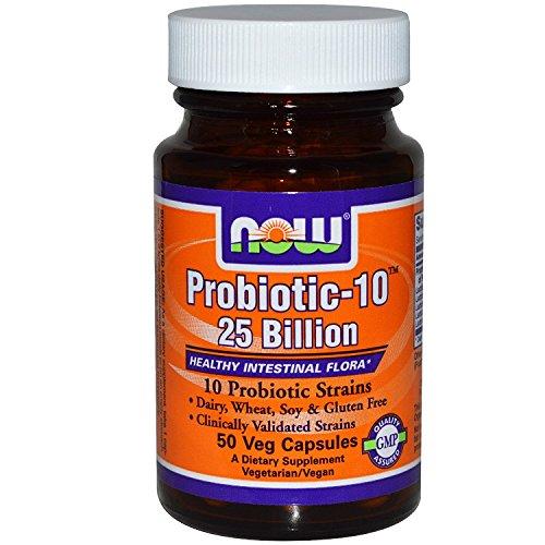 Now Foods Probiotic-10, 25 Billion, 50 Vegetarian Capsules