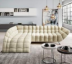Canapé d'angle de haute qualité, design remarquable, choisissez le type et la couleur de votre choix : tissu facile à nettoyer ou cuir synthétique, assortissez-le à votre intérieur. Contactez-nous pour personnaliser votre canapé. Les dimensions ne pe...