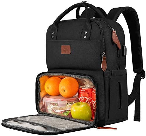 Lunch Backpack for Women Insulated Cooler Backpacks with USB Port 15 6 inch College School Laptop product image