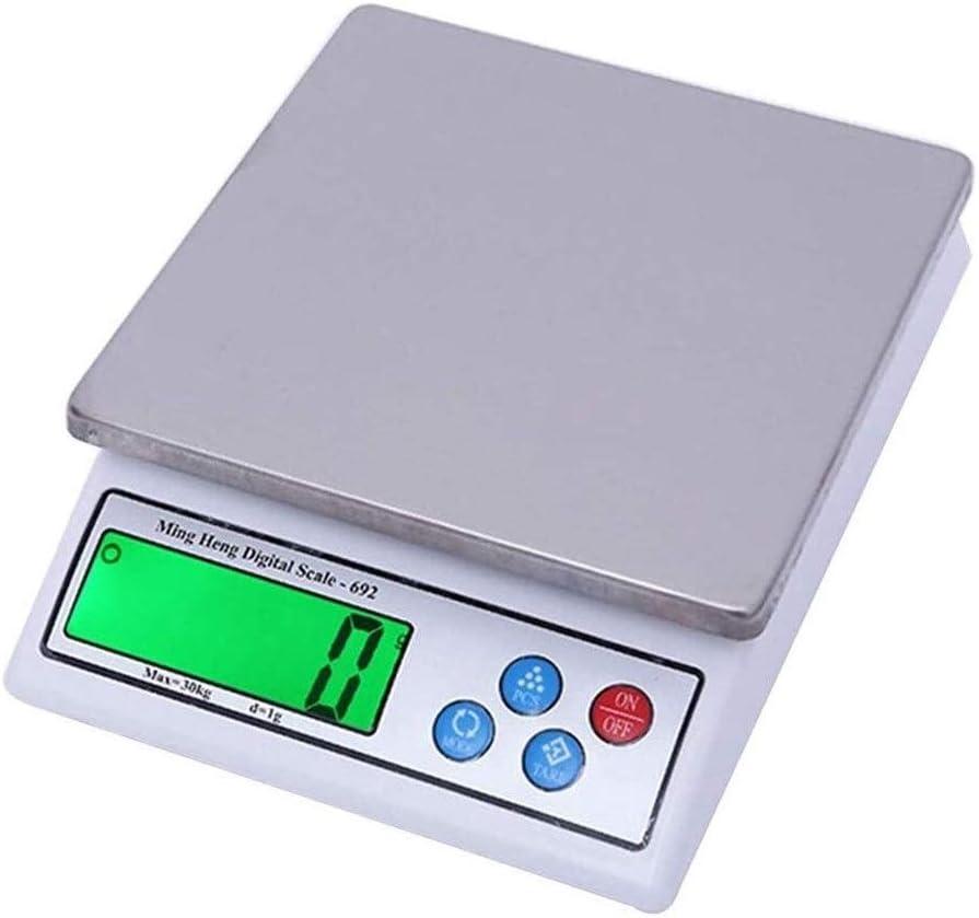 ZBYL Joyería electrónicos portátiles Alimentación Gramos Escala Digital multifunción Precio Computing un Peso de Frutas de función Tara Acero Inoxidable 30kg / 1g 917
