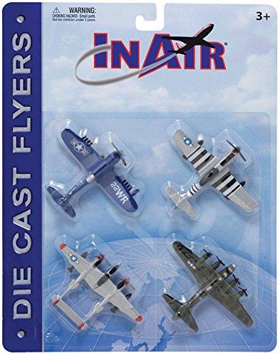 InAir Die Cast World War II Warbirds 4 Piece Set