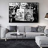 Zqcay Artista Paris Toma Fotos de Carteles de Arte, Impresiones y Pinturas al óleo, Cuadros de Pared para Sala de Estar, Dibujo, Lienzo, Pintura de Arte, póster, Pintura de Pared-Marco 50X70 cm