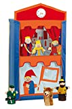 Teatro de títeres de madera maciza con 6 marionetas; 120cm de altura (Roba 6972)