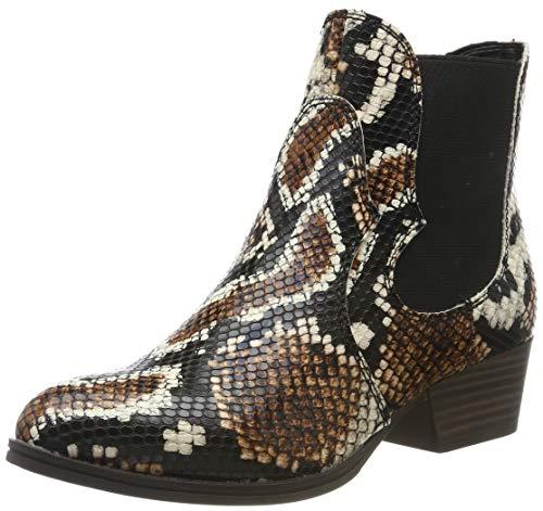 Tamaris Damen Stiefeletten Braun/Snake, Schuhgröße:EUR 40