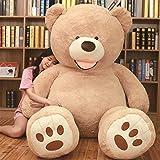NOVA ぬいぐるみ 特大 くま クマ 熊 テディベア 抱き枕 クッション かわいい だきまくら お祝い プレゼント (ライトブラウン, 200cm)
