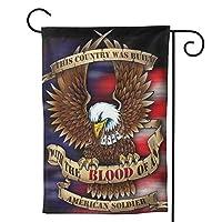 アメリカ海軍アメリカ兵 のぼり旗 ガーデンフラッグ 両面 防風 サイン 休日を祝う 美しい 庭の装飾 アンティークの冬 ガーデンバナー ファッション 屋外装飾 贈り物