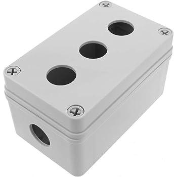 BeMatik - Caja de control de dispositivos eléctricos para 4 pulsador o interruptor de 22 mm beige: Amazon.es: Electrónica