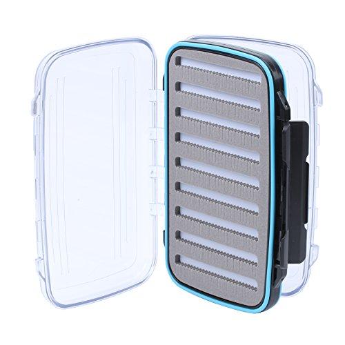 Maxcatch Wasserdichte Fliegendosen Doppelseitige Trasparente Deckels Fliegenbox (Size C)