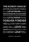 Aretha Franklin Poster I Say A Little Prayer – schwarzer