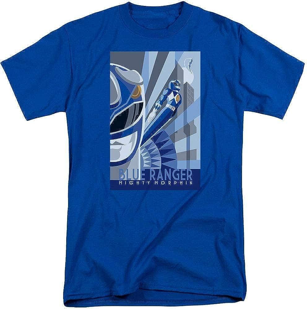 Power Rangers Blue Ranger Deco Adult Tall Fit T-Shirt