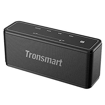 Bluetooth Speaker, Tronsmart Mega 40W Portable Speaker with 15-Hour Playtime, TWS, Dual-Driver, Built-in Mic, NFC, Deep Bass, LED Backlighting Touch Panel for Outdoor Indoor -Grey by Tronsmart