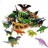 GuassLee OuMuaMua Dinosaur Figure Toys 78 Pack - Plastic Dinosaur Set Kids Toddler Education, Including T-Rex, Stegosaurus, Monoclonius, etc