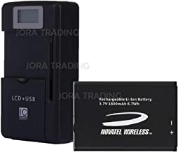 OEM Battery 40115126-001 for Verizon Jetpack 4G LTE Mobile Hotspot MiFi 5510L w/Universal LCD Battery Charger + USB-Port (Adjustable Dock) in Non-Retail Packaging
