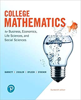 College Mathematics for Business, Economics, Life Sciences, and Social Sciences and Mylab Math with Pearson Etext -- 24-Mo...