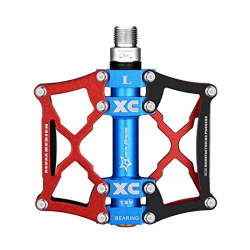 ROCKBROS Rosso Ultralight Pratico Pedali Alluminio/Bici Pedali per BMX MTB Bici Bicicletta