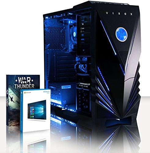 VIBOX Black-Ice LA12-62 Gaming PC Computer mit War Thunder Spiel Bundle, Windows 10 OS (4,2GHz AMD A12 Quad-Core Prozessor, Radeon R7 Grafik Chip, 8Go DDR4 2133MHz RAM, 240GB SSD, 3TB HDD)