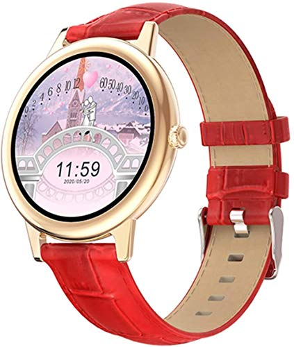 E10 Ultra Delgado GPS Reloj Inteligente Señoras Pantalla Táctil Completa Bluetooth Sports Tracker Fitness Ritmo Cardíaco Deportes Smartwatch para Android IOS-B