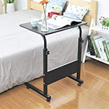 S-PLUS Wood Laptop Desk Bed Learning with Household Lifting Folding Mobile Bedside Table Writing Desktop Computer Desk Wit...