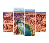 KPWAN 4 Panel Grand Canyon Rock Poster Wandkunst Leinwand