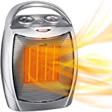 Brightown Portable Electric Space Heater: 1500W/750W Ceramic Small Heaters with Thermostat Heat Up