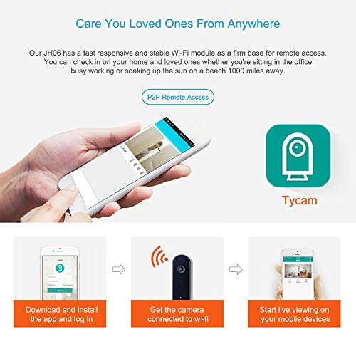 TriVision Indoor Camera with Free Cloud Storage, Pet Dog Camera, WiFi Nanny Cam with Audio and Video, Cell Phone App, HD1080P, Night Vision Camera for Home Security, Puppy, Baby Monitor
