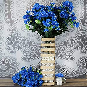 DN_HOM Wonderful 120 pcs Silk Gardenia Flowers for Wedding Centerpieces Arrangements Bouquets (Royal Blue)