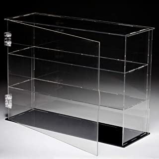 Lanscoe Three Layers Clear Acrylic Display Case Assembly Countertop Box Cube Organizer Stand Dustproof Protection Showcase for Action Figures, Toys, Collectibles, 12.6x4x9.4 Inch (32x10x24 cm)