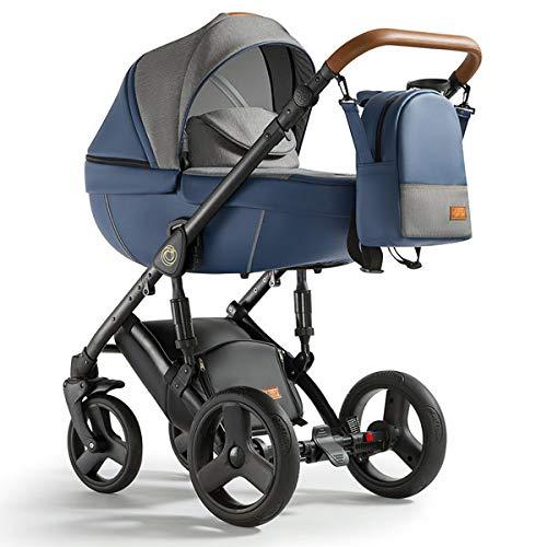 Krausman Kinderwagen 3 in 1 Nexxo Dark Blue Kombikinderwagen Babyschale Babywanne Sportwagen