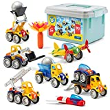 Play Brainy Magnetic Toy Cars Set for Boys and Girls - Brilliant Educational Toys for Toddlers and Preschoolers - Montessori Toy is Load of Fun & Helps with Developmental Skills (90 Piece)