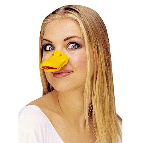 NET TOYS Entenschnabel Ente Schnabel gelb Enten Schnabel Entenschnute Tiernase Kostüm Accessoire