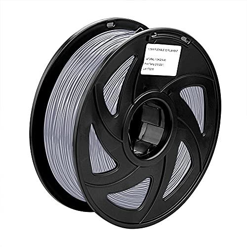 S SIENOC 1Kg PLA 1,75mm 3D Printer Filamento Spool 3D Materiale di stampa per stampanti (PLA Argento)