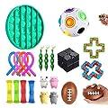 LUCKKY Los Mejores Juguetes Fidget - 23PCS Juego de Juguetes sensoriales Fidget,Surtido de Juguetes Especiales,Juguetes para aliviar el estrés para niños Adultos,para Fiesta de cumpleaños de LUCKKY
