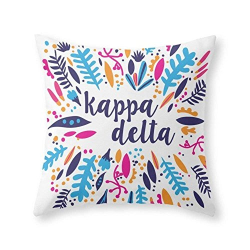 Kappa Delta Throw Pillow Indoor Cover Without Pillow Insert, poliéster, Colour One, 20 X 20 Inches