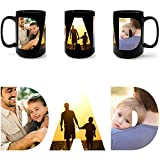 Personalized Photo Mugs for Dad. Add Picture to Customized Travel Funny Mug to create photo collage cup. Great Gift for Dad or Step Dad, Father's Day, Birthday, Christmas, Thanksgiving (Black, 15 oz)