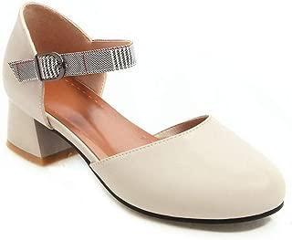 BalaMasa Womens ASL06268 Pu Heeled Sandals