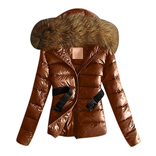 Affordable Women Winter Coats,Outdoor Warm Outwear Long Sleeve Short Cotton Coats Fur Collar Hooded ...