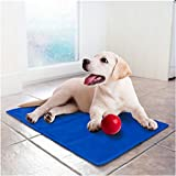 Lauva Dog Cooling Mat Large, Pet Cool Mat Dog Cat Ice Mat with Self Cooling Gel Non-Toxic Activated Gel Cooling Pad, Great for Dogs Cats Puppy to Stay Cool This Summer(M:65 * 50CM(25.6 * 19.5 in))