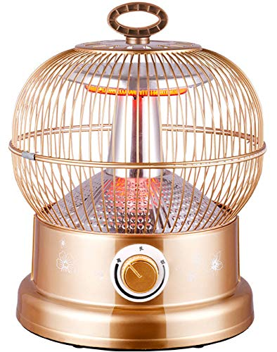 NFJ Elektroheizer Heizlüfter Heizgerät,Vogelkäfig Heizung Backofen Kleine Solar Heizung Desktop Energiesparende Geschwindigkeit Vogelkäfig Heizung Neujahr Geschenk,A