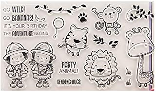 GIMITSUI Store Clear Stamp Silicone DIY Paper Craft (Cute Animal)