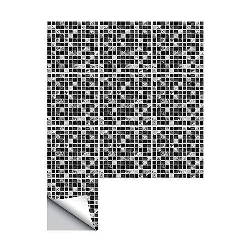 JASIN vloerstickers zwart mozaïek creatieve tegel stickers keuken badkamer vloer art deco muur stickers