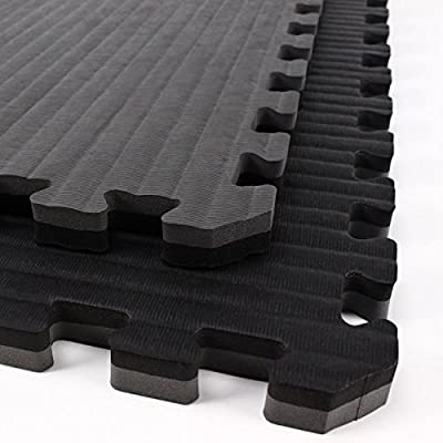 IncStores - Tatami Foam Tiles - Extra thick mats perfect for martial arts, MMA, lightweight home gyms, p90x, gymnastics, yoga, cardio, aerobic, and exercises