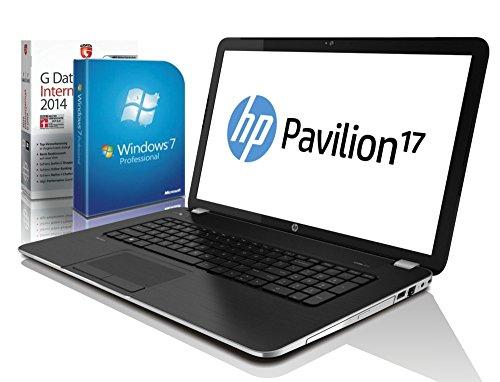 HP Pavilion 17-f212ng (17,3 Zoll) Notebook (Intel Celeron N2840 2x2.58 Ghz, 8GB RAM, 750GB S-ATA HDD, Intel HD Graphic, HDMI, Webcam, Beatsaudio®, USB 3.0, Bluetooth 4.0, Cardreader, WLAN, Windows 7 Professional 64 Bit) #4890