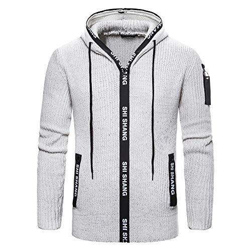 Z&Y Glaa Herren Softshell Jacke Outdoor Funktionsjacke Freizeitjacke Herren Kapuzenpullover aus mittelschwerer Baumwollmischung Herren Kapuzenpulli mit Reißverschluss Mitteldick Reißverschluss
