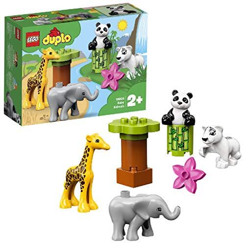 LEGO DUPLO Town - Animalitos Nuevo juguete de construcción didáctico, incluye una Jirafa, un Elefante, un Oso Panda y un Tigre Blanco (10904)