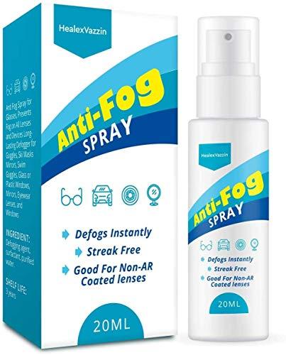 HealexVazzin Anti Fog Spray for Glasses, Long Lasting Defogge for Glasses, Eyeglass, Mask, Sports Goggles, Swim Goggles, Bathroom Mirror, Nanotechnology - Safe on All Lenses